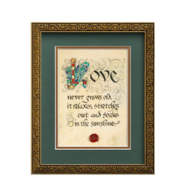 "PLAQUES, SIGNS & POSTERS ""LOVE NEVER GROWS OLD"" MANUSCRIPT 8X10 PLAQUE"