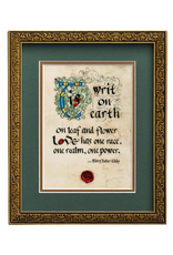 "PLAQUES & GIFTS ""TIS WRIT ON EARTH"" MANUSCRIPT 8x10 PLAQUE"