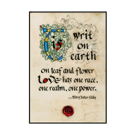 "PLAQUES & GIFTS ""TIS WRIT ON EARTH"" 12X18 CONTEMPORARY MANUSCRIPT"