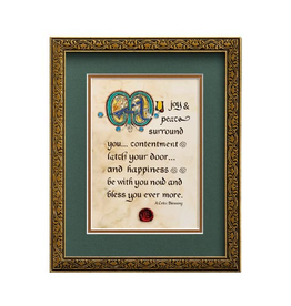 "PLAQUES & GIFTS ""MAY JOY & PEACE SURROUND YOU"" MANUSCRIPT 8X10 PLAQUE"