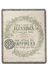 """TAPESTRIES, THROWS, ETC. """"WHEN I COUNT MY BLESSINGS"""" THROW"""