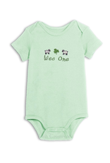 """BABY CLOTHES """"WEE ONE"""" MINT ONESIE"""