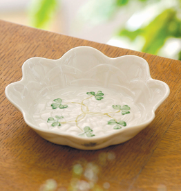 PLATES, TRAYS & DISHES BELLEEK SHAMROCK SWEET DISH