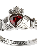 RINGS SHANORE STERLING BIRTHSTONE CLADDAGH RING - JANUARY