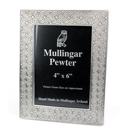 FRAMES MULLINGAR PEWTER 4x6 CELTIC KNOT FRAME