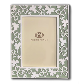 FRAME CARVED SHAMROCK PHOTO FRAME