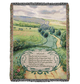 "TAPESTRIES, THROWS, ETC. ""IRISH PROVERB"" BLESSING THROW"