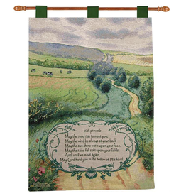 "TAPESTRIES, THROWS, ETC. ""IRISH PROVERB"" BLESSING WALL TAPESTRY"