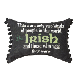 "TAPESTRIES, THROWS, ETC. ""TWO KINDS OF PEOPLE…"" IRISH DECORATIVE PILLOW"
