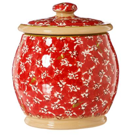 KITCHEN & ACCESSORIES NICHOLAS MOSSE SML ROUND LIDDED JAR - RED LAWN