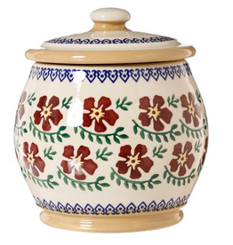 KITCHEN & ACCESSORIES NICHOLAS MOSSE SML ROUND LIDDED JAR - OLD ROSE
