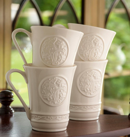 KITCHEN & ACCESSORIES SET OF 4 BELLEEK CRAFT SHAMROCK MUGS