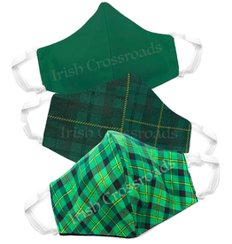 ACCESSORIES IRISH TARTAN & SOLID FACE MASKS