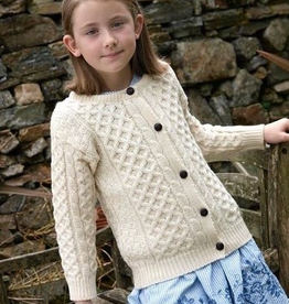 KIDS CLOTHES CHILDREN'S IRISH KNIT CARDIGAN - Natural