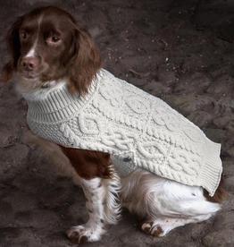 SWEATERS IRISH KNIT DOG SWEATER - Natural