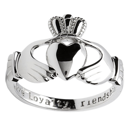 RINGS SHANORE STERLING GENTS HEAVY CLADDAGH RING