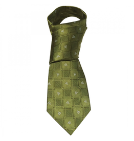 ACCESSORIES PATRICK FRANCIS CELTIC KNOT SILK TIE - Green