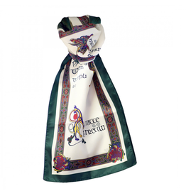 ACCESSORIES BOOK of KELLS LONG SIGNATURE SCARF - Bottle Grn/Red/Purple