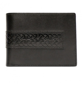 ACCESSORIES BOOK of KELLS CELTIC LEATHER WALLET - Black