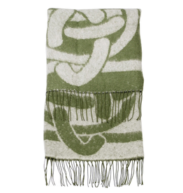 CAPES & RUANAS PATRICK FRANCIS CELTIC KNOT WRAP - Green/Cream