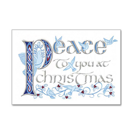 "CARDS ""PEACE TO YOU AT CHRISTMAS"" CARDS"