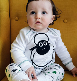 BABY CLOTHES SHEEP & SHAMROCK PRINT BABY PAJAMA SET