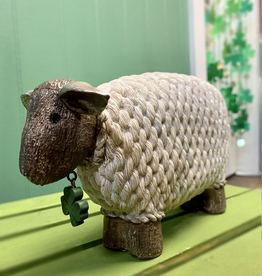 DECOR IRISH SHEEP with SHAMROCK CHARM DECOR