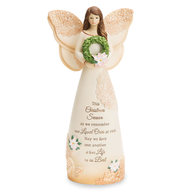 HOLIDAY DECOR MEMORIAL CHRISTMAS ANGEL with WREATH