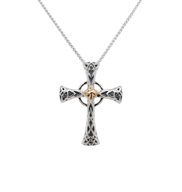 CROSSES KEITH JACK STERLING & 10K CELTIC CROSS - Small