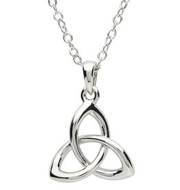 PENDANTS & NECKLACES PlatinumWare SMALL TWIST TRINITY KNOT PENDANT