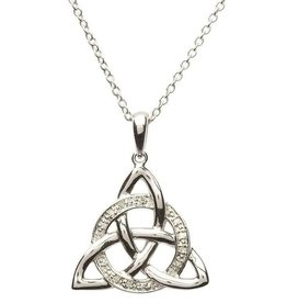 PENDANTS & NECKLACES SHANORE STERLING CELTIC TRINITY PENDANT with DIAMOND