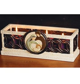 RELIGIOUS IRISH HOLY FAMILY ADVENT CANDLEHOLDER