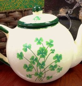 TEAPOTS, MUGS & ACCESSORIES X-LARGE CERAMIC SHAMROCK TEAPOT
