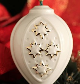 ORNAMENTS STAR BAUBLE BELLEEK ORNAMNET