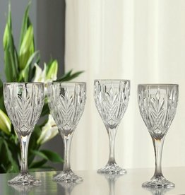 BARWARE GALWAY CRYSTAL ABBEY GOBLETS (4)