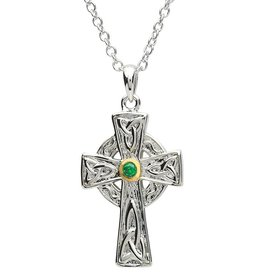 CROSSES PlatinumWare CELTIC STONE SET CROSS