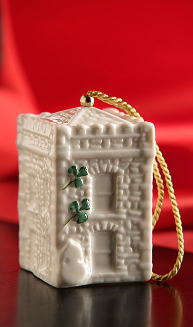 ORNAMENTS CASTLE CALDWELL GATE HOUSE BELL 2015 BELLEEK ORNAMENT
