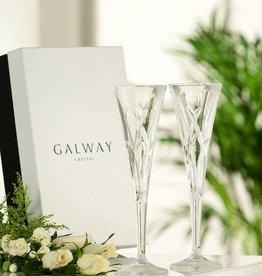 WEDDING FLUTES GALWAY CRYSTAL MYSTIQUE ROMANCE FLUTES (2)