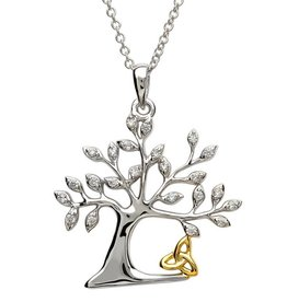 PENDANTS & NECKLACES SHANORE STERLING TREE OF LIFE TRINITY PENDANT