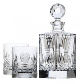 GIFTWARE EMERALD CRYSTAL BARLEY DECANTER SET