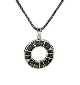 "PENDANTS & NECKLACES KEITH JACK STERLING VIKING RUNE PENDANT- ""MY LOVE KISS ME"""