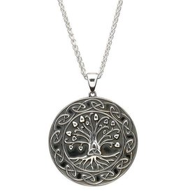 """PENDANTS & NECKLACES SHANORE STERLING GENERATIONS """"TRINITY TREE OF LIFE"""" PENDANT - LARGE"""