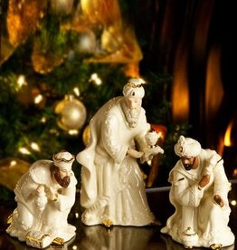 HOLIDAY BELLEEK NATIVITY THREE KINGS SET