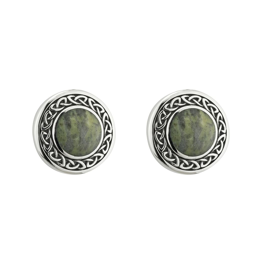 EARRINGS SOLVAR STERLING & CONNEMARA ROUND CELTIC EARRINGS