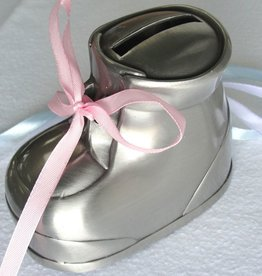 MULLINGAR PEWTER BABY SHOE BANK