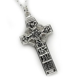 CROSSES FADO STERLING OGHAM CROSS - SAINT PATRICK / COLUMBIA KELLS