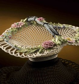 LIMITED EDITION HENSCALL BASKET - (1887-1897) BELLEEK ARCHIVE COLLECTION