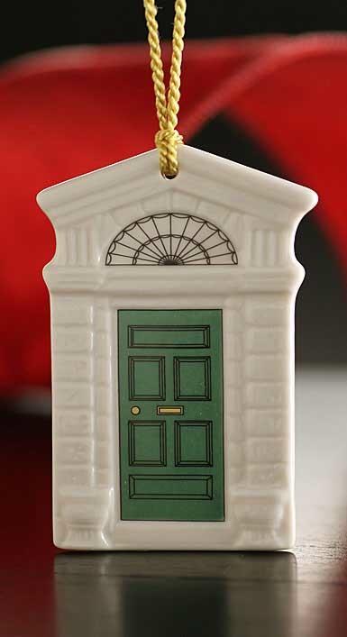 ORNAMENTS GEORGIAN GREEN DOOR 2014 BELLEEK ORNAMENT