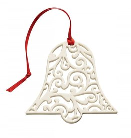 ORNAMENTS BELLEEK LIVING LACE BELL SHAPED ORNAMENT