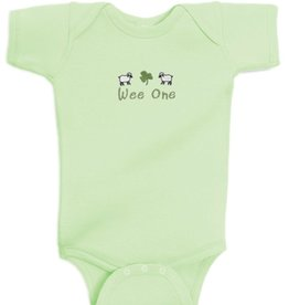 "BABY CLOTHES ""WEE ONE"" MINT ONESIE"